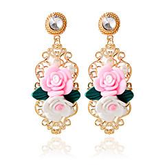 Mote Legering Blomsterformet Rosa Smykker Til Bryllup 1 par