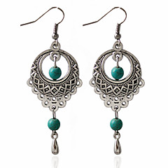 1pair/green Hoop Earrings for women Classical Feminine Style