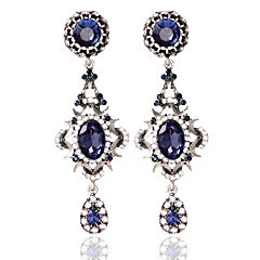 1pair/BlueHoop Earrings forWomen Wedding Party Elegant Feminine Style