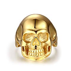 בגדי ריקוד גברים טבעות מידי תכשיטים סטייל פאנק פלדת על חלד Skull shape תכשיטים עבור קזו'אל