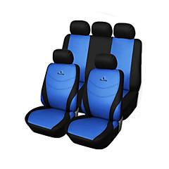 billige Setetrekk til bilen-9 stk satt bilsete dekker grå blå rød universell passform racingsete broderiet materiale polyester