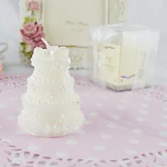 Kumsal Teması / Asya Teması / Klasik Tema / Bebek duşu Mum Şekerleri-2Piece Adet / Set Mumlar Kişiselleştirilmemiş Beyaz