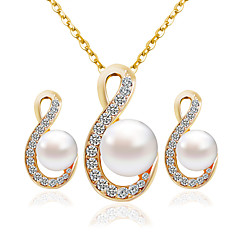 Women's Bridal Jewelry Sets Fashion Wedding Party Earrings Necklaces