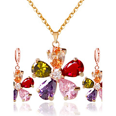 Women's Bridal Jewelry Sets Wedding Party Alloy Earrings Necklaces