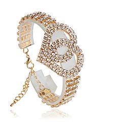 Bracelet Tennis Bracelet Alloy Circle Fashion Wedding Jewelry Gift Gold / Silver,1pc