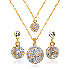 Alloy Bridal Jewelry Sets Necklaces Earrings Wedding Elegant Style