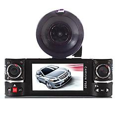 lente dupla câmera do carro DVR veículo traço cam dois F600 gravador de vídeo lente