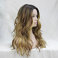 cheap Synthetic Wigs-Synthetic Wig Wavy Layered Haircut Heat Resistant Ombre Women's Capless Lace Wig Long Synthetic Hair Daily