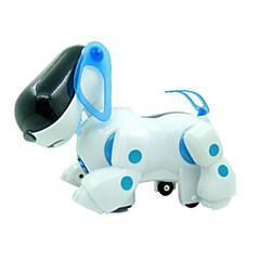 Stroj pes rozsvítí plast bílá / modrá hudební hračka pro děti