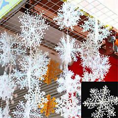 ieftine Decor Casă-30pcs Crăciun zăpadă fulgi alb zăpadă ornamente vacanță Crăciun copac decorare festival partid