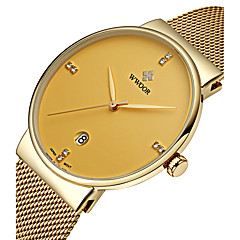 WWOOR Homens Relógio Elegante Relógio de Pulso Relógio de Moda Quartzo Quartzo Japonês Calendário Impermeável imitação de diamante