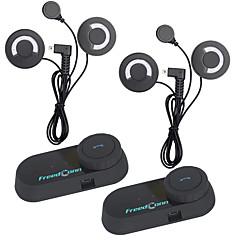 2 pcs freedconn capacete da motocicleta headset intercom interfone Bluetooth bt com fm radiosoft fone de ouvido t-com fm