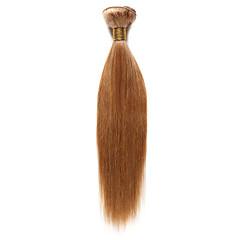 billiga Peruker och hårförlängning-Indiskt hår Klassisk / Yaki Human Hår vävar Hårförlängning av äkta hår Jordgubbsblont