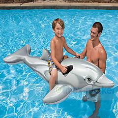 billiga Uppblåsbara badringar och badmadrasser-Delfin Uppblåsbara badflottar Uppblåsbara riddjur Djur pvc Barn Pojkar Flickor Leksaker Present