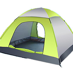 billige Telt og ly-3-4 personer Camping Pute Sove Pute Piknik Pute Telt Beskyttelse & Presenning Tredobbelt camping Tent Ett Rom Automatisk Telt Fukt-sikker