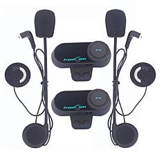 tanie Zestawy słuchawkowe do kasków-freedconn 1 para motocykl zestaw słuchawkowy bluetooth, kask motocyklowy domofon domofon odtwarzacz mp3 / walkie-talkie