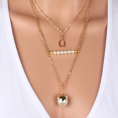 Недорогие -трехслойный жемчуг жемчуг ожерелье классический женский стиль