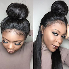 billiga Peruker och hårförlängning-360 Frontal Spetsfront Schweizisk spetsperuk Äkta hår Fria delen Med Babyhår Hög kvalitet Dagligen