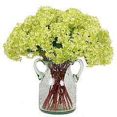 billige Kunstige blomster-Kunstige blomster 3 Gren Moderne Stil Hortensiaer Bordblomst