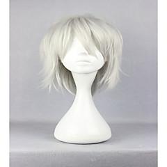 tanie Peruki syntetyczne-Peruki syntetyczne Kędzierzawy Gęstość Bez czepka Damskie Biały Karnawałowa Wig Halloween Wig cosplay peruka Włosy syntetyczne
