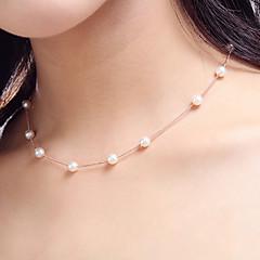 女性 チョーカー ストランドネックレス パールネックレス 真珠 真珠 人造真珠 ファッション 愛らしいです あり コスチュームジュエリー ジュエリー 用途 結婚式 パーティー 日常 スポーツ