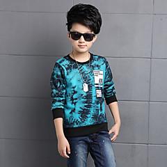 tanie Odzież dla chłopców-Dla chłopców Kwiaty Codzienne Nadruk Długi rękaw Regularny Regularny Bawełna Bluzy Czarny 150