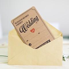 Cartão Raso Convites de casamento 25-Amostra de convite Convites para Festas de Noivado Papel Cartão