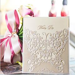 Cartão Raso Convites de casamento 10-Amostra de convite Arte de Papel