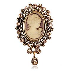 dámská módní retro slitina / drahokamu kapka vody brože pin party / denní šátek spony šperky příslušenství 1ks