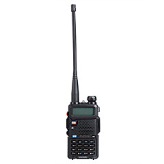 "billige Walkie-talkies-baofeng uv5r 1.5 ""lcd 5W 136 ~ 174mhz / 400 ~ 480Mhz dual band walkie talkie med en-ledede lommelykt (us plugg)"