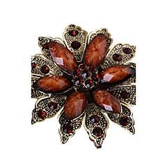 billige Motebrosjer-Dame Nåler - Krystall, Fuskediamant Blomst, Flower Shape Brosje Brun / Blå / Utvalgte Farger Til Fest / Daglig / Avslappet