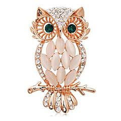 女性のファッションヴィンテージ合金ラインストーンやブローチ毎日/カジュアルな動物の形の宝石をオパール