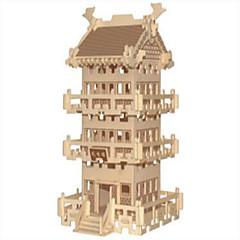 Puzzles Holzpuzzle Bausteine DIY Spielzeug Sphäre / Berühmte Gebäude / Chinesische Architektur 1 Holz Elfenbein Model & Building Toy