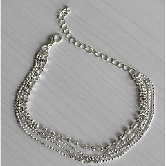 Women's Anklet/Bracelet Silver Plated Imitation Diamond Fashion European Multi Layer Costume Jewelry Jewelry For Daily Casual