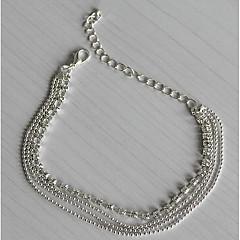 Женский Ножной браслет/Браслеты Серебрянное покрытие Искусственный бриллиант Мода европейский Многослойный бижутерия Бижутерия Назначение