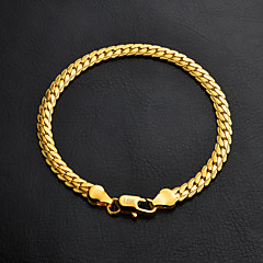 cheap -18k Gold Bracelet Chain Bracelet Gold Graduation / Engagement / Gift / Wedding / Party / Daily Jewelry Gift Gold / Silver1pc