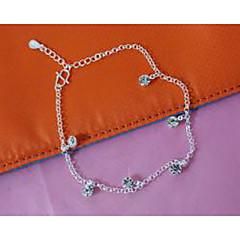 billige Kropssmykker-Ankel - Sølvplett, Fuskediamant Mote Sølv Til Bryllup Fest Daglig Dame