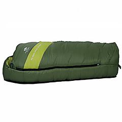 Sovepose Mumie Dun 10°C Velventilert Vanntett Bærbar Vindtett Regn-sikker Sammenleggbar Forseglet 190X50 Camping Reise Innendørs Singel