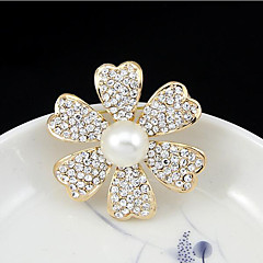 billige Motebrosjer-mai polly europa klassiske naturperle diamant hule Camellia corsage