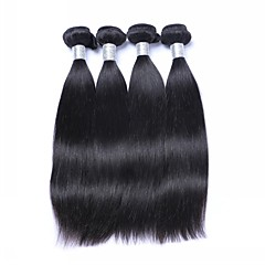 cheap Hair Extensions-4 Bundles Brazilian Hair Straight Virgin Human Hair Natural Black Human Hair Weaves / Hair Bulk 8-26 inch 200g Human Hair Extensions for Women