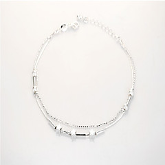 Women's Anklet/Bracelet Sterling Silver Fashion Double-layer Costume Jewelry Jewelry For Wedding Party Daily Casual