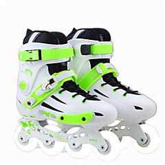 Unisex Erwachsene Inline-Skates Rutschfest tragbar Atmungsaktiv Wasserdicht EinstellbarGrün-Weiß/Grün/schwarz