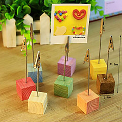 cheap -Pine wedding menu seat wooden clip clip pictures Wood with wire cardcase furnishing articles