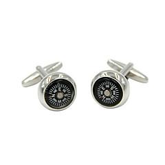 Manžetové knoflíčky 2ks, barva stříbrná blok módní cufflink pánské šperky