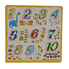 Bildungsspielsachen Holzpuzzle Spielzeuge Quadratisch Neuheit Mädchen Jungen 1 Stücke