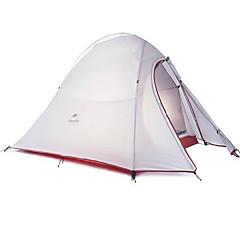 Naturehike 3-4 osoby Stříška Přístřešky a plachty Dvojitý Camping Tent jeden pokoj Malé stany Dobře větraný Voděodolný Rychleschnoucí