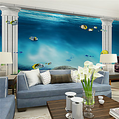 cheap -Art Deco Home Decoration Contemporary Wall Covering, Canvas Material Adhesive required Mural, Room Wallcovering