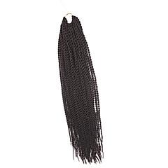 billiga Peruker och hårförlängning-twist Flätor Hårflätor Senegal 100% Kanekalon-hår Mörk Rödbrun Hår till flätning Hårförlängningar