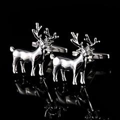 halpa -hopea peuran kalvosinnapit miesten kupari materiaali kalvosinnapit joululahjat ranneke painikkeet läsnä eläin koruja lahjapaketti