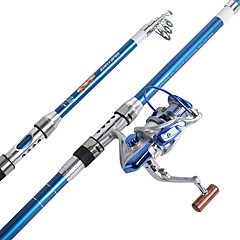 Spinning Rod Spinning Rod FRP 210/240/270/300/360 cm Sea Fishing Freshwater Fishing Other Carp Fishing General Fishing 5 sections Rod &